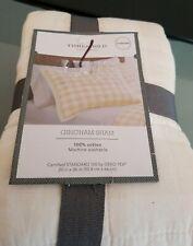 (2)Gingham Pillow Shams Cream Threshold