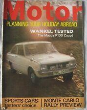 Motor magazine 17 January 1970 featuring Mazda R100 Coupe road test, Matra