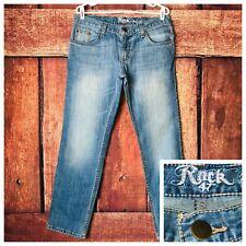 Wrangler Rock 47 Boyfriend Fit Jeans Light Wash Womens Size 29 x 30 NEW