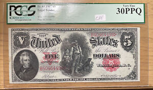 "1907 $5 Legal Tender Note  Fr#85"" Woodchopper"" PCGS 30 PPQ"