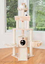 "59"" Armarkat Multi Cat Tree Condo Bed House Perch Scratching Post Beige A5806"
