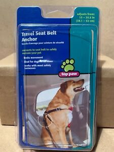 """Top Paw Travel Seat Belt Anchor Adjusts 15""""-20.5"""" in New B30"""