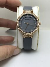 WOMEN'S ARMITRON ANALOG WATCH GRAY STRAP ROSE GOLD TONE CASE 75/5455GYRGGY-HW