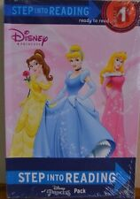 DISNEY PRINCESS EDUCATIONAL 6 PACK STEP INTO READING-STAGE 1&2~ BN w stickers