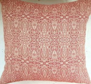 Pottery Barn Pillow Cover Soft Red Paisley - Cotton Throw Pillows