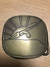 Hippie Solid Brass Belt Buckle Vintage