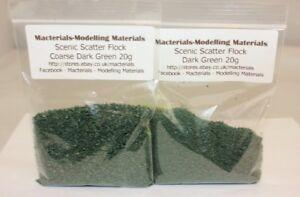 Scenic Flock Material Dark Green Multipack - 2 x 20g Packs - Hornby Wargame