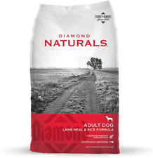 Diamond Naturals Real Meat Recipe Premium Dry Dog Food For Adults And All Life Stages - Lamb Meat & Rice (40lbs.)