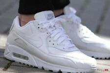 BOXED NEW Size 6 Nike Air Max 90 womens ladies white leather sports gym trainers