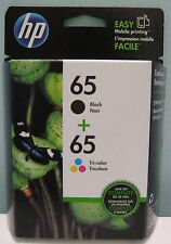 HP 65 / 65 BLACK & TRI-COLOR NEW GENUINE COMBO INK CARTRIDGES , NEW IN BOX