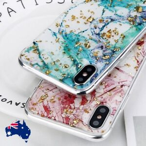 For iPhone XR X XS Max 8 7 6 Plus Bling Glitter Marbel Thin TPU Case Cover
