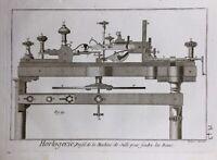 Horlogerie 1765 Machine de Sulli Rare Gravure Encyclopédie Diderot Watchmaking