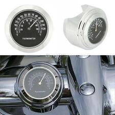 "Motorcycle Handlebar Thermometer 1"" For Harley Sportster Softail Dyna V-rod FLST"