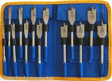 MTL 13pc Flat Bit Set for Wood: 6/8/10/11/13/14/15/18/19/20/22/24 & 25mm bits