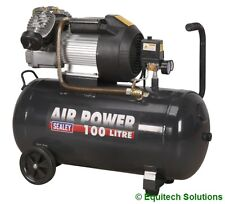 Sealey Tools SAC10030VE 100 Litre 100L 3HP Direct Drive Air Compressor V Twin