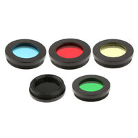 "Telescope Eyepiece Lens Color Filter Set 1.25"" for Astronomy Moon Planet 5x"