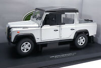 #UH 3883 - Universal Hobbies  Land Rover Defender 110 Pick Up - Silber - 1:18