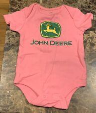 Brand New Nwot John Deere Pink Toddler Girls Short Sleeve One-Piece 9M 9 Months