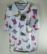 Aogda Cycling Shirt Women's Butterflies NWT XX-Large 2XL Vented Full Zip