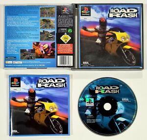 SONY PlayStation Spiel ROAD RASH Erstauflage PAL Motorradrennen/Soundgarden