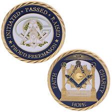 Francs-maçons Foi Commémorative Collection de monnaies Art Cadeaux Souvenir doré