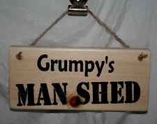 Plaque Shed Sign Grumpy MAN SHED Door Den Office Garage Allotment Outside Hide