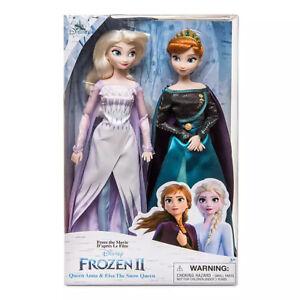 RARE Disney Store Queen Anna and Elsa the Snow Queen Dolls, Frozen 2
