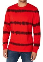 American Rag Mens T-Shirt Red Black Size XL Tie Dye Striped Crewneck Tee $35 008