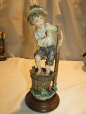 G. Armani Boy Stomping Grapes Figurine Gullivers Travels c 1980s Italy 3V1-2