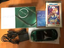 PSP Playstation Portable Spirited Green PSP 3000SG japan game w/ software box