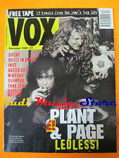 rivista VOX Magazine 51/1994 Robert Plant Gimmy Page Suede Oasis Green Day Nocd