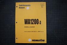 KOMATSU WA1200-3 WHEEL LOADER FIELD ASSEMBLY Service Manual BOOK SHOP 1998 OEM