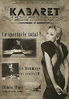 PATRICIA KAAS - KABARET-LIVE AU CASINO DE PARIS  DVD NEW+