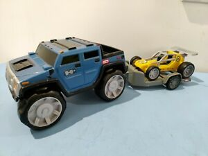 Little Tikes Rugged Riggz HUMMER, racing car and trailer