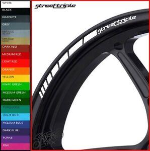 8 x Triumph Street Triple Wheel Rim Stickers Decals - 20 colors - 675 765 r rs