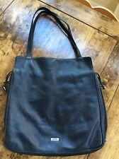 womens handbags and purses/Cobo Dark Brown Leather Hobo Shoulder Bag