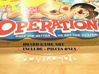 Complete Set of 11 Operation Game Replacement Pieces Parts Toys Ailments Missing