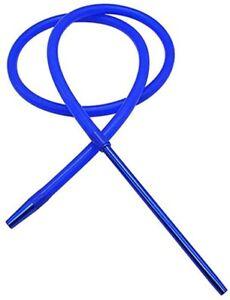 Silicone Shisha Hookah Premium Hose Pipe AluminiumTip Khalil Mamoon Style BLUE