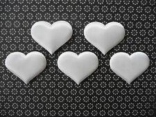 120 Satinherzen ♡ 3 cm ♡ Stoff Tischdeko Hochzeit Taufe Kommunion Scrapbooking