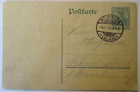 D.Reich, Ganzsache 1914 von Meissenheim, Glan, nach Schweinschied (43441)