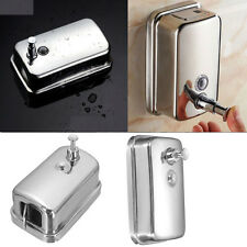 US Stock 500Ml Stainless Steel Soap/Shampoo Dispenser Lotion Pump Wall Mounted