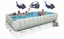 "Intex 24' x 12' x 52"" Ultra Frame Rectangular Swimming Pool Set   28361Eh"