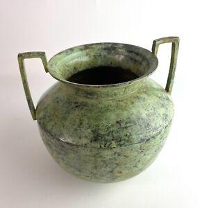 Metal Decorative Mottled Green Athropologie Urn Vase