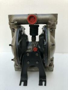 """INGERSOLL RAND ARO 666101-444-C AIR OPERATED DOUBLE DIAPHRAGM PUMP 1"""" SS"""
