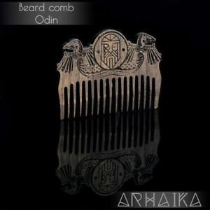 Viking wooden comb Odin/ beard/ gift for him