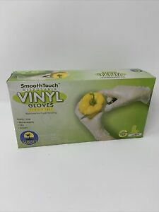 Smooth Touch Vinyl Gloves, Size Large, Powder Free, 100 Gloves, PPE
