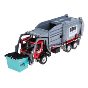 1:24 Alloy Trash Truck Model Junk Dump Transport Model Children Vehicle Toy 1PCS