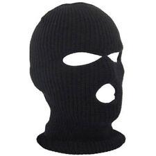 3 Hole Ski Mask Balaclava Army Knit Hats Face Shield Beanie Cap Snow Winter Warm