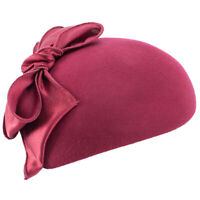 Frauen Teardrop Wollfilz Fascinator Hut Tam Beret Casque Cocktail A598