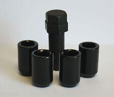 M12 X 1.5  BLACK TUNER SLIMLINE LOCKING WHEEL NUTS FIT CHRYSLER PT CRUISER ARATO